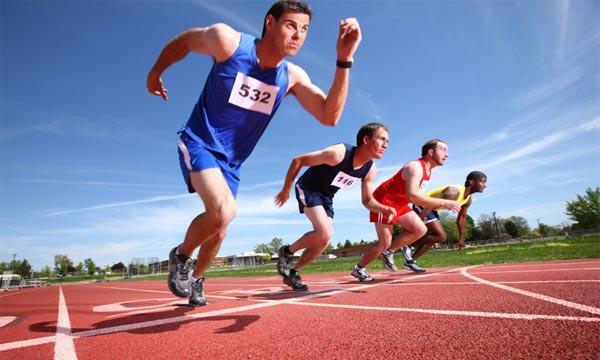 Todas as modalidades do Atletismo.